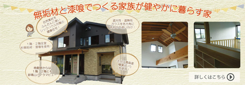 無垢材と漆喰でつくる家族が健やかに暮らす家(上越市/新築)